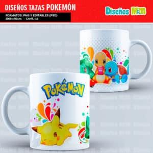 Diseños-Plantillas-Templates-sublimacion-tazas-mug-vasos-pokemon-GO-pikachu-lejendarios-ash-equipo-roque-moltres-articuno-zapdos-charmander-chile-colombia_2
