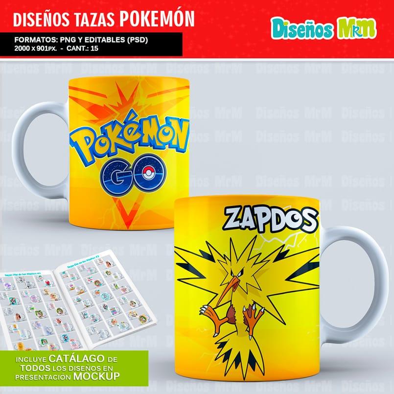 Diseños-Plantillas-Templates-sublimacion-tazas-mug-vasos-pokemon-GO-pikachu-lejendarios-ash-equipo-roque-moltres-articuno-zapdos-charmander-chile-colombia_5