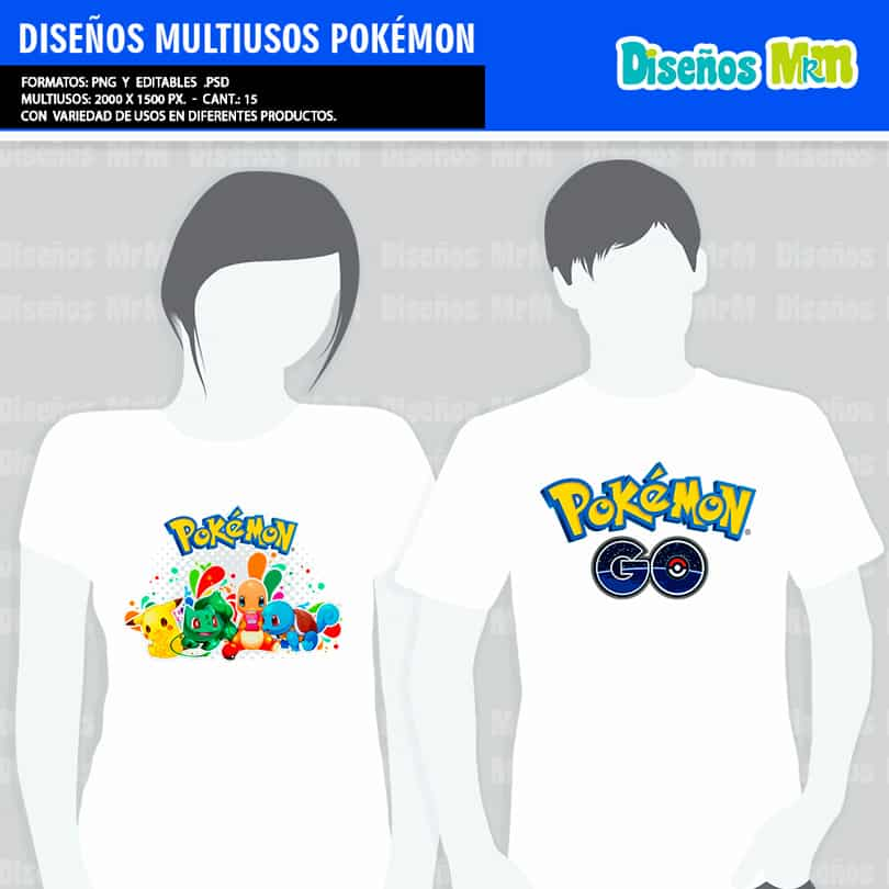PLANTILLAS POKEMON PARA ESTAMPAR POLERAS
