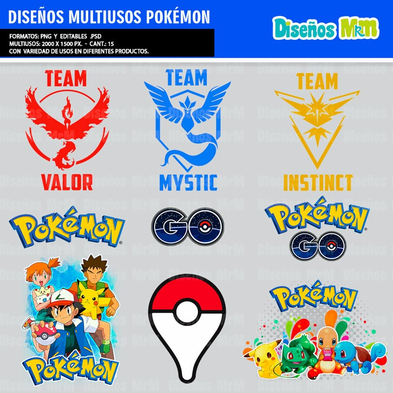 PLANTILLAS POKEMON PARA ESTAMPAR POLERAS & MULTIUSO