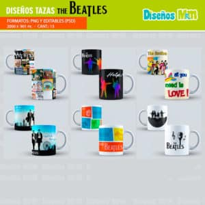 DISEÑOS PARA SUBLIMACION DE MUGS THE BEATLES