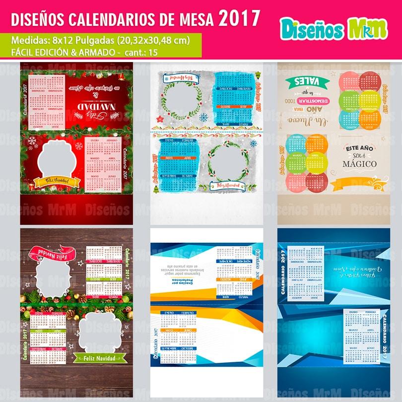 CALENDARIOS GRATIS 2017 PARA MESA