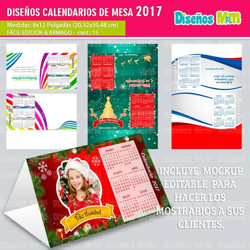 CALENDARIOS 2017 PARA MESA