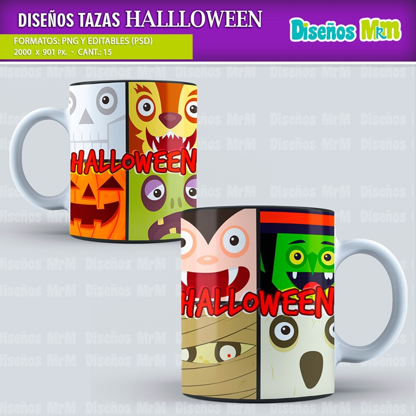 Dise os halloween para estampar mugs for Disenos para estampar