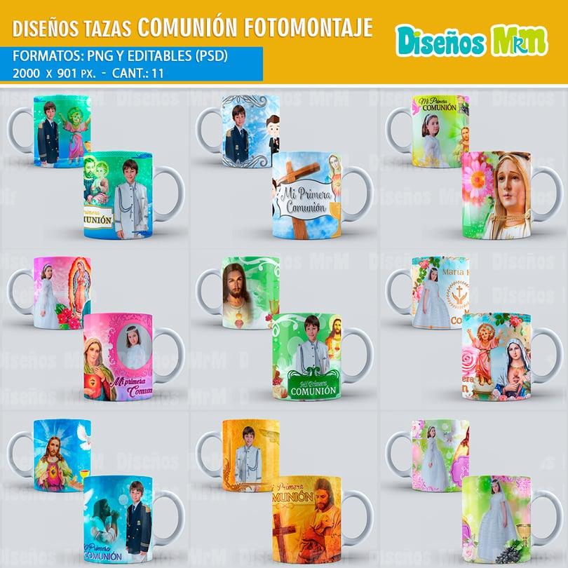 diseÑos para fotomontaje primera comunion para mugs