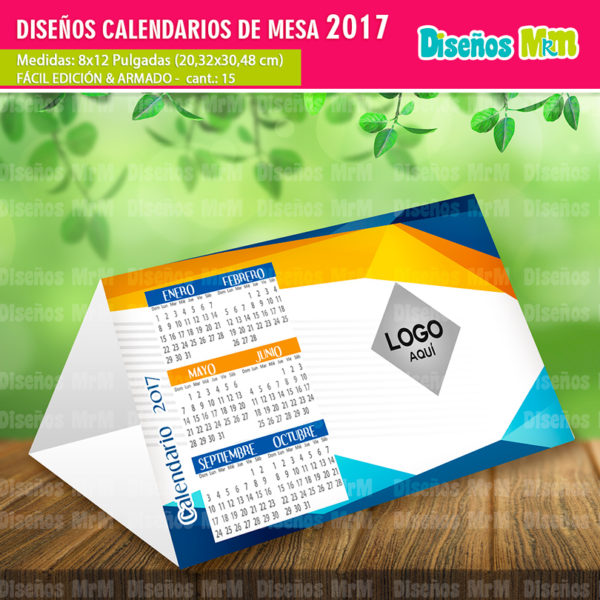 Calendarios gratis 2017 para mesa - Plantilla calendario de mesa ...