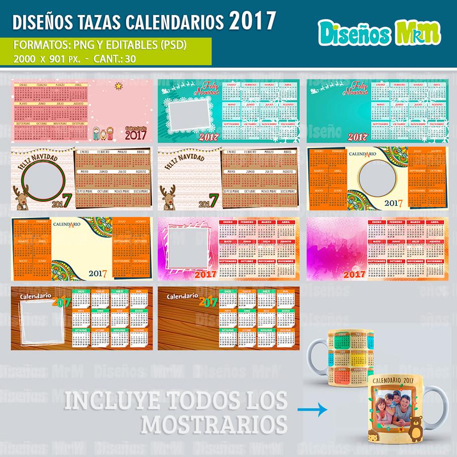 diseno-desing-plantillas-sublimacion-calendarios-2017-almanaques-tazas ...