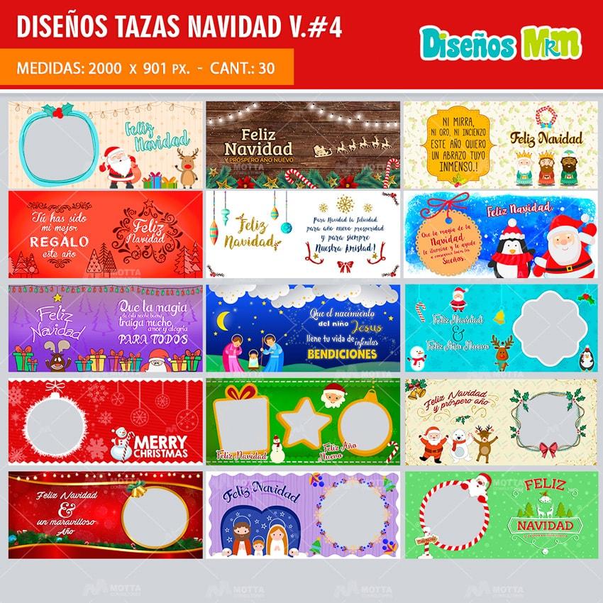 DISEÑOS PARA TAZAS DE NAVIDAD #4