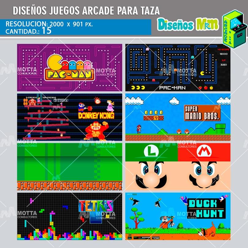 diseos para tazas juegos arcade