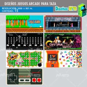 diseno-plantilla-desing-mockups-para-tazas-tazon-mug-juegos-arcade-pacman-contra-mario-islan-prince-bomberman-galaga