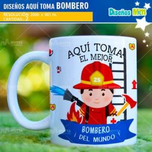 disenos-desing-templates-plantillas-mugs-tazas-vasos-sublimacion-profesiones-chile-colombia-bomberos-fuego-salvavidas-firefighter-espana-aqui-toma-el-mejor_1