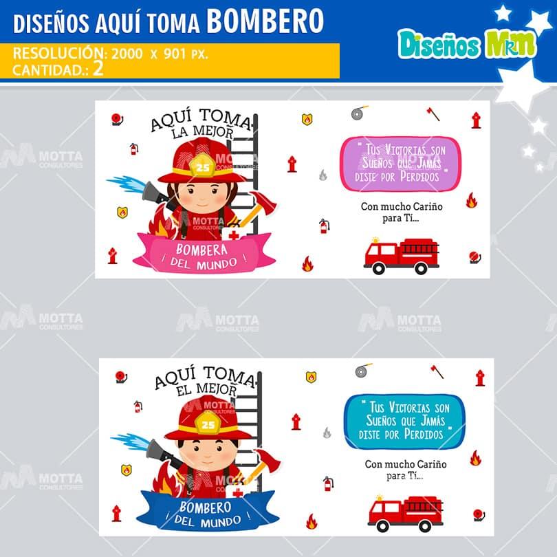 PARA SUBLIMAR TAZAS DE BOMBERO Y BOMBERA