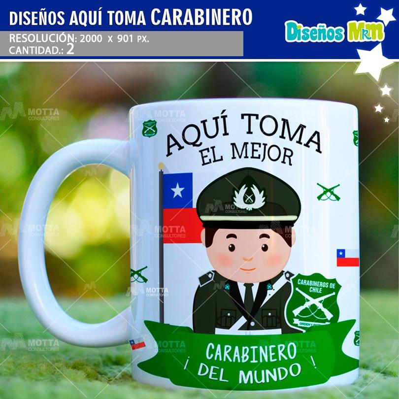 DISEÑO AQUI TOMA EL MEJOR CARABINERO DE CHILE PARA TAZONES