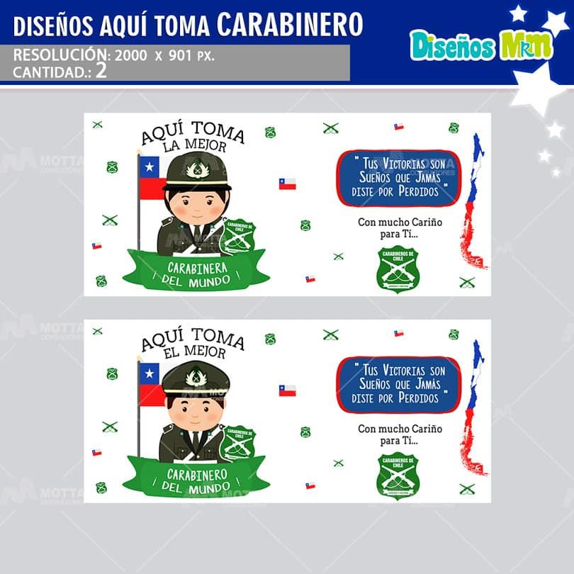 DISEÑO AQUI TOMA EL MEJOR CARABINERO DE CHILE