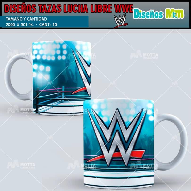 PLANTILLAS LUCHA LIBRE WWE PARA TAZAS