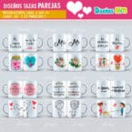 PLANTILLAS DE PAREJAS PARA SUBLIMAR MUGS PACK N 2