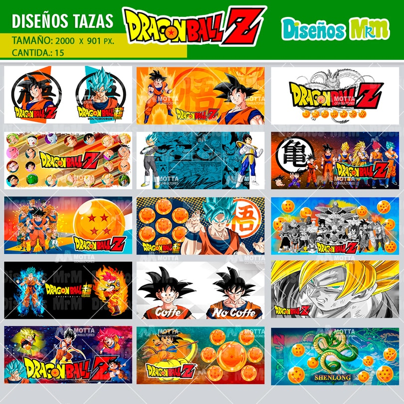 DESING MUGS DRAGON BALL SUBLIMAR