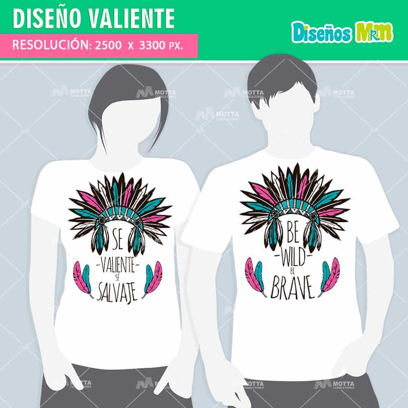 Diseño-plantilla-dibujo-vector-franela-polera-camisa-vector-valiente-PSD-illustrador-ploter-estampar_2