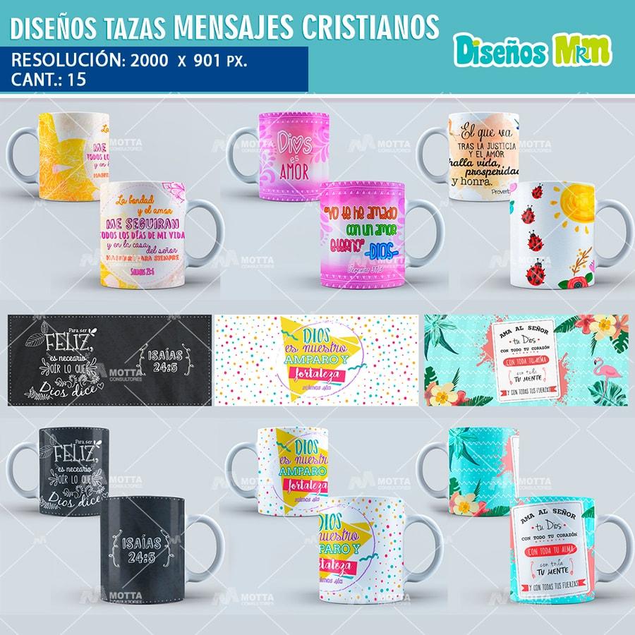 Diseños Para Tazas Mensajes CRISTIANOS SALMOS PROVERBIOS 1afda241b539