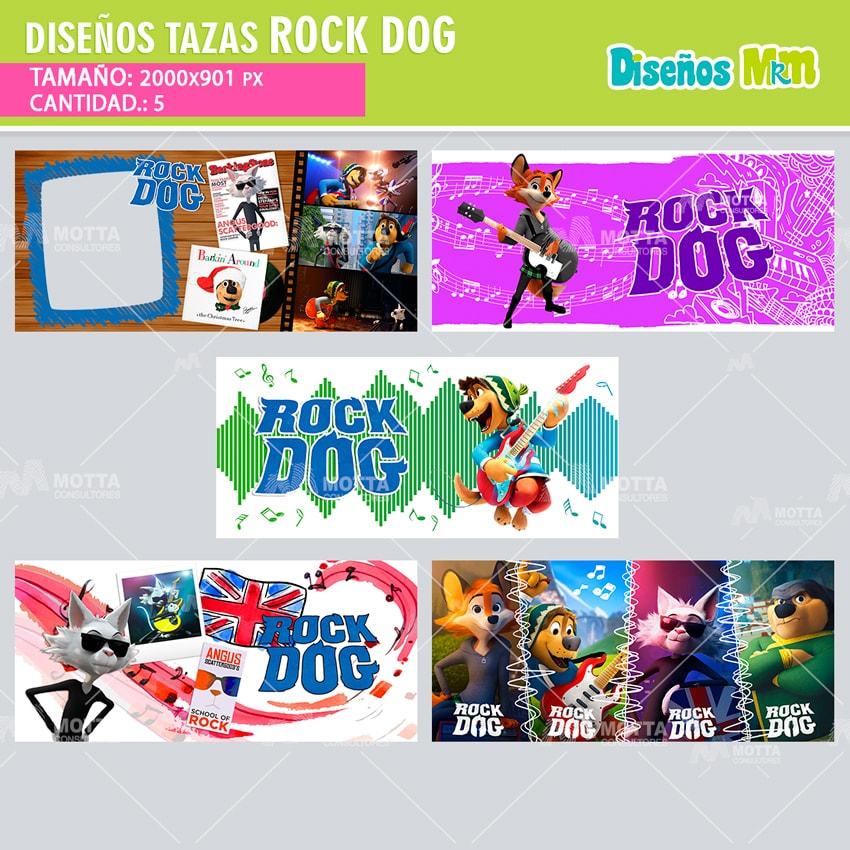 ROCK DOG DISEÑOS PARA ESTAMPAR TAZAS