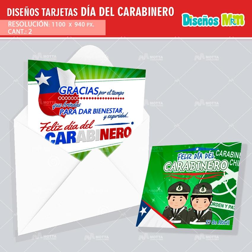 DISEÑO DE TARJETA DIA DEL CARABINERO GRATIS