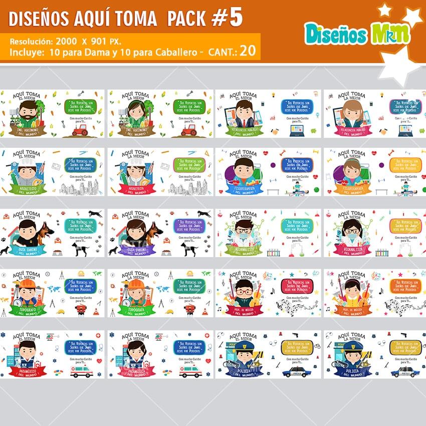 DISEÑOS DE PROFESIONES AQUI TOMA EL MEJOR PARA SUBLIMAR PACK N 5
