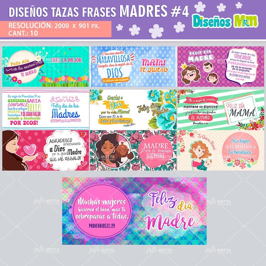 DISEÑOS FRASES DIA DE LAS MADRES PACK 4