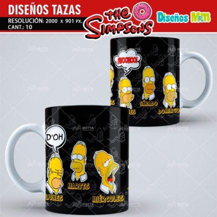 DISEÑOS PARA TAZAS DE LOS SIMPSONS HOMERO BART MARGE