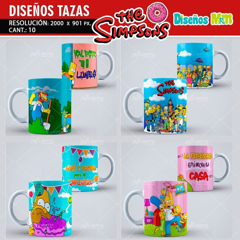 plantilla-diseño-design-tazas-mug-vaso-simpsons-homero-bart-rosquillas-argentina-chile-colombia-3-min