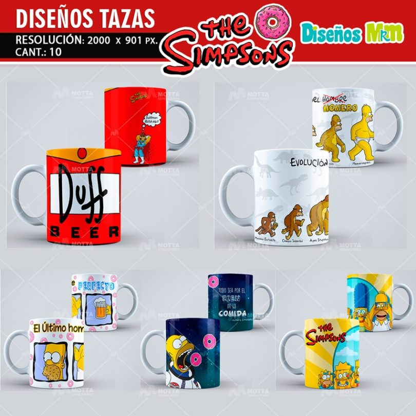 plantilla-diseño-design-tazas-mug-vaso-simpsons-homero-bart-rosquillas-argentina-chile-colombia-4-min