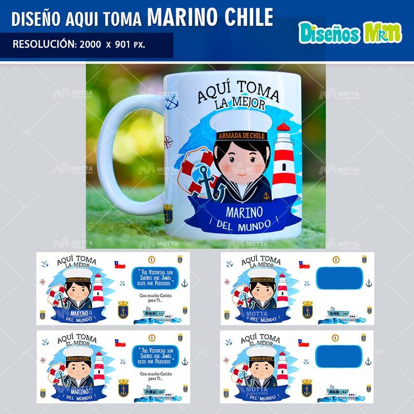 DISEÑOS AQUI TOMA EL MEJOR MARINO CHILENO