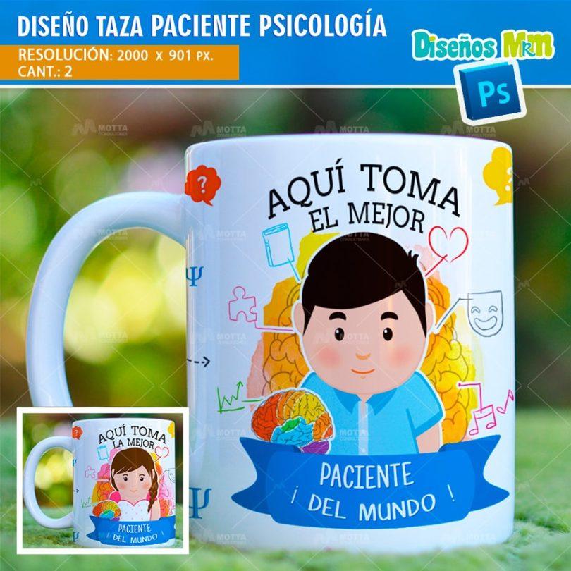 plantilla-diseño-marco-tazas-mug-design-aqui-toma-el-mejor-paciente-psicologia-medico-min