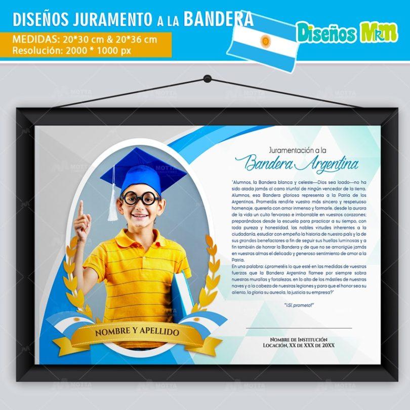 Diseño-plantilla-arte-juramento-a-la-bandera-argentina–promesa-marco-foto-diploma-reconocimiento-martin-20-junio-min