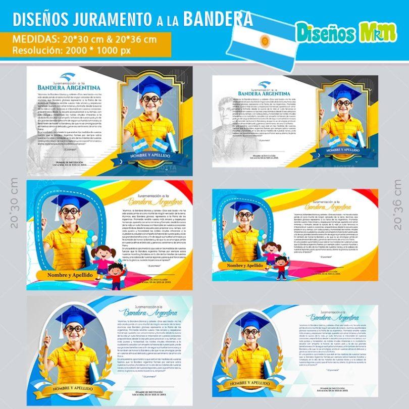 Diseño-plantilla-arte-juramento-a-la-bandera-argentina–promesa-marco-foto-diploma-reconocimiento-martin-min