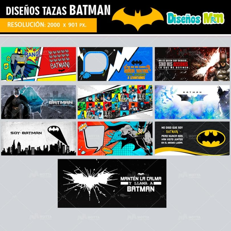 plantilla-diseño-design-tazas-mug-BATMAN-MURCIELAGO-wayne-caballero-noche-heroe-calma-llama-amarillo-min