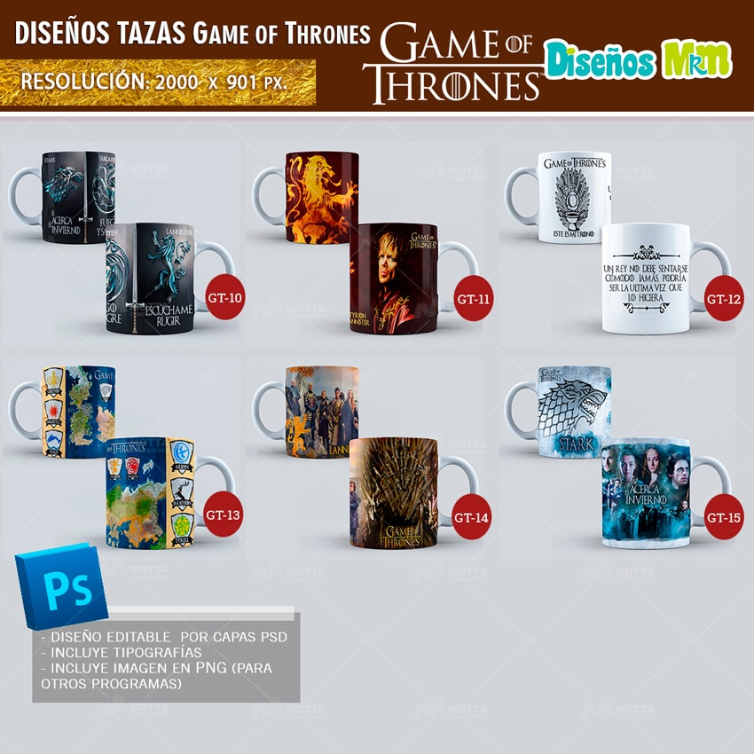 DISEÑOS PARA TAZONES GAME OF THRONES