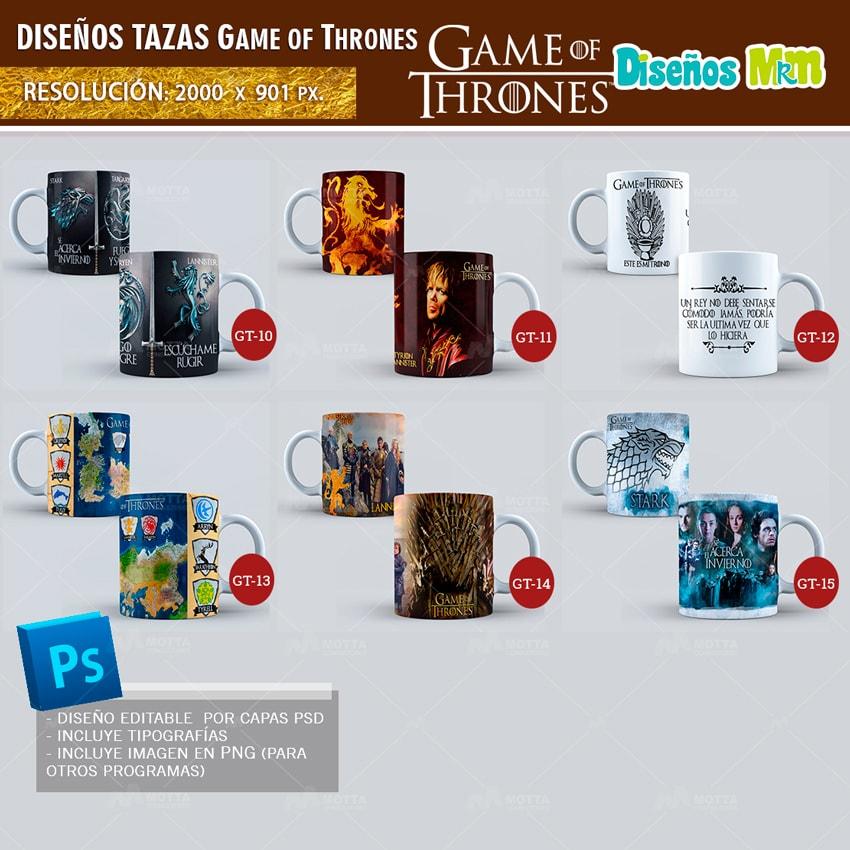 DISEÑOS PARA TAZONES GAME OF THRONES