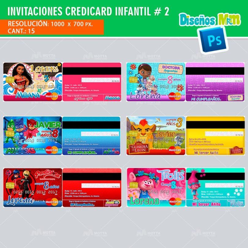 plantilla-diseño-invitacion-tarjeta-design-credicard-infantiles-descendientes-trolls-luna-moana