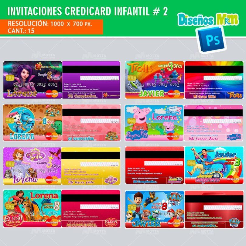plantilla-diseño-invitacion-tarjeta-design-credicard-infantiles-descendientes-trolls-luna-peppa
