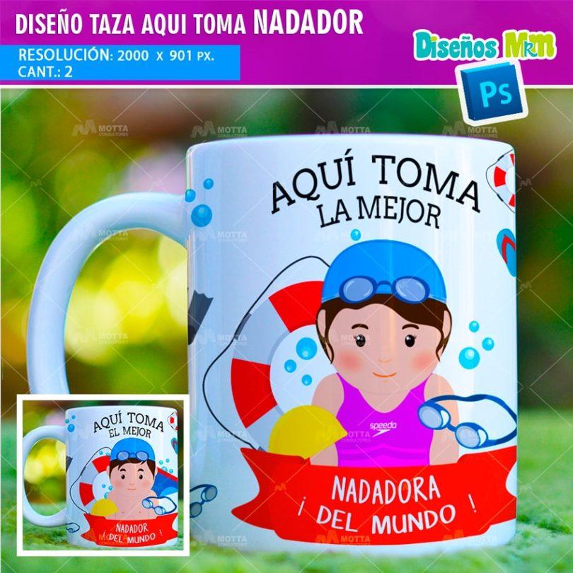 plantilla-diseño-marco-tazas-mug-design-aqui-toma-el-mejor-nadador-lentes-deporte-chile-colombia-min