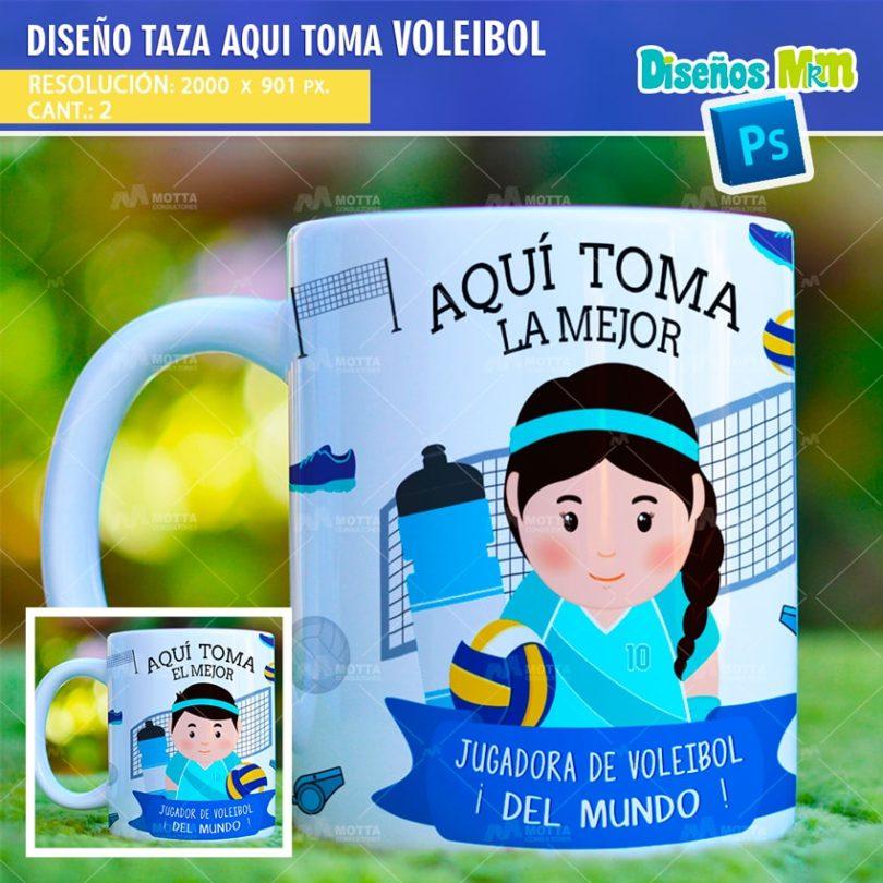 plantilla-diseño-marco-tazas-mug-design-aqui-toma-el-mejor-voleibol-cancha-balon-deporte-chile-argentina-min