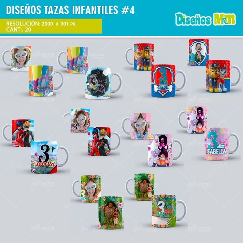plantilla-diseno-design-tazas-mug-tazones-infantiles-lady-bug-trolls-moana-gallinita-min