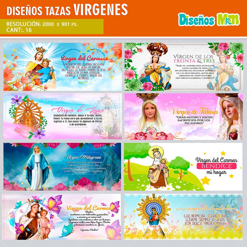 DISEÑOS PARA TAZA DE VÍRGENES