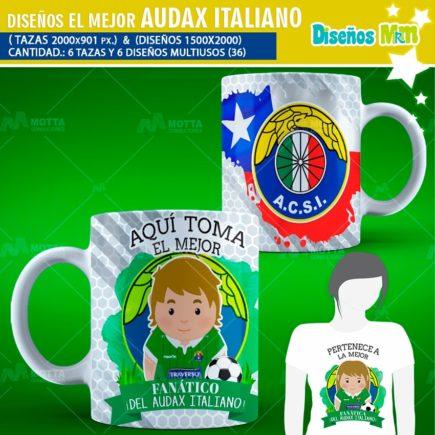 DISEÑOS AQUÍ TOMA FANÁTICO DEL AUDAX ITALIANO