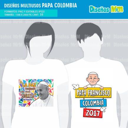 DISEÑOS PAPA FRANCISCO PARA CAMISETAS Y MAS