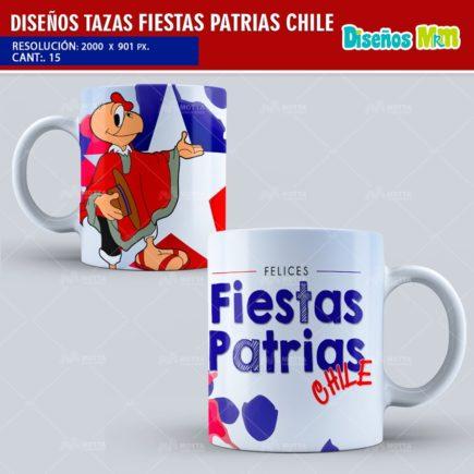 DISEÑOS PARA TAZONES DE FIESTAS PATRIAS DE CHILE