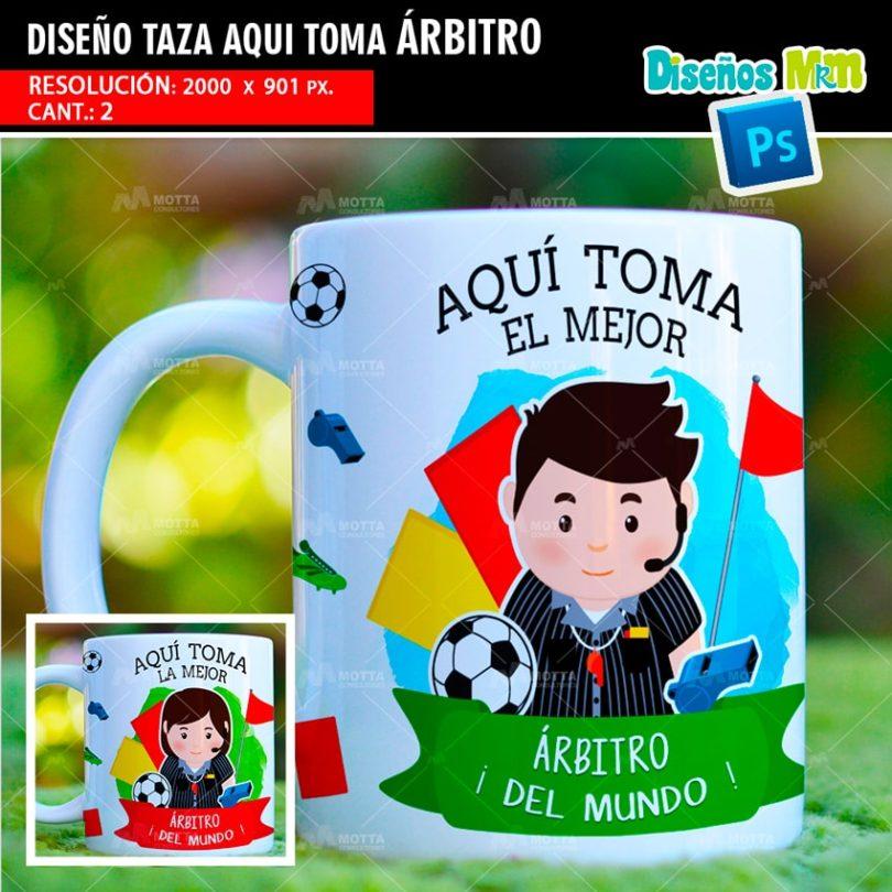 plantilla-diseño-marco-tazas-mug-design-aqui-toma-el-mejor-arbitro-futbol-mundial-jugadores-tarjeta-amarilla-min