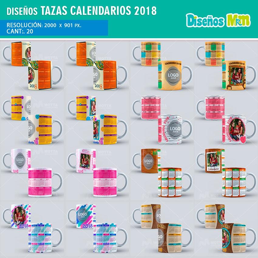 Dise os variados para taza calendarios 2018 - Disenos de calendarios ...