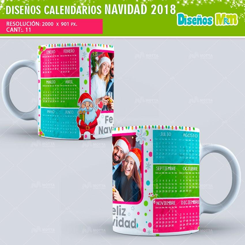 DISEÑOS PARA MUG CALENDARIOS NAVIDAD 2018