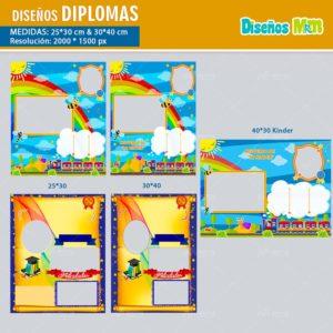 plantillas-diseños-templates-diplomas-certificado-graduacion-grado-kinder-colegio-licenciatura-bachillerato-40×30-min